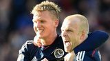Steven Naismith (right) celebrates with Matt Ritchie