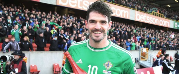 Kyle Lafferty was named man of the match