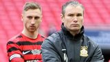 Kevin Wilkin looks glum after the FA trophy final