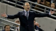 Martin O'Neill urges on his Republic of Ireland side at the Aviva Stadium