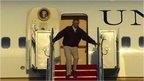 Obama stumbles