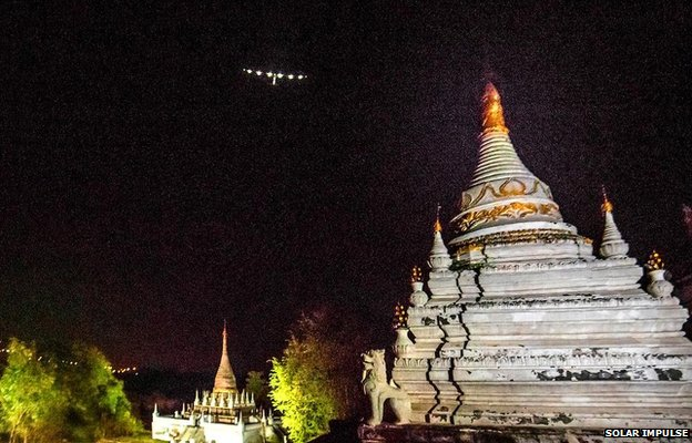 Solar Impulse over Myanmar
