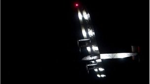 Solar Impulse takes off from Mandalay