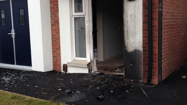 Scene of Ballymagowan house attack