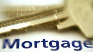mortgage sign + key