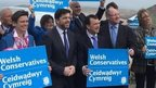 Welsh Conservatives gather at Rhossili, Gower, for their campaign launch