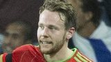 Chris Gunter in action for Wales against Israel