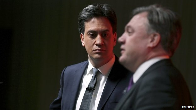 Labour leader Ed Miliband and Shadow Chancellor Ed Balls
