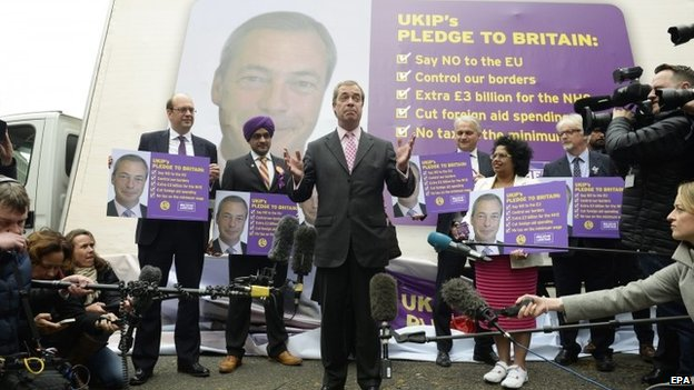 Nigel Farage's launching the party's pledge card