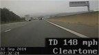 Motorcyclist filmed on M11