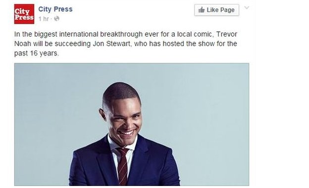 Trevor Noah reaction