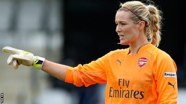 Emma Byrne BBC Sport Emma Byrne Arsenal goalkeeper feels all WSL 1