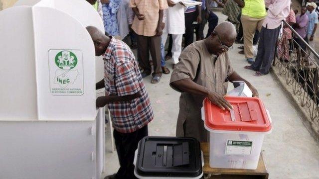 Votes cast in Nigeria