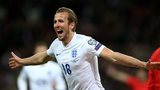 Harry Kane celebrates scroing against Lithuania