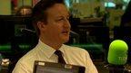 David Cameron in studio
