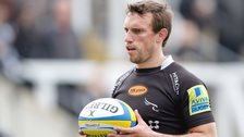 Mike Blair in action for Newcastle Falcons