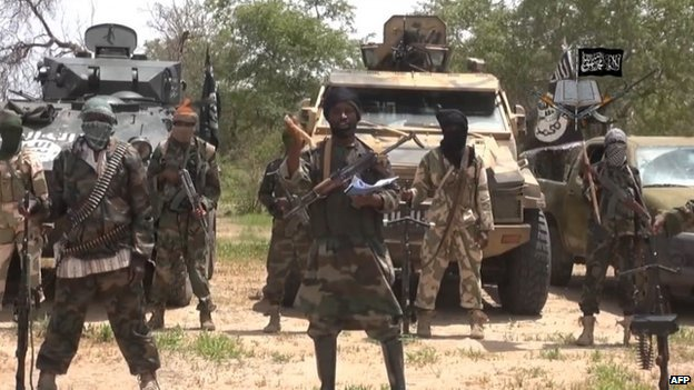 A screengrab taken on 13 July 2014 from a video released by the Nigerian Islamist extremist group Boko Haram