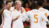 Netherlands players celebrate