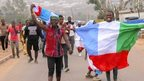 Nigerians celebrate in Jos, 31 March