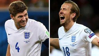 Steven Gerrard and Harry Kane