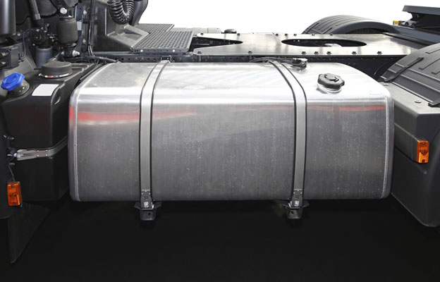 Fuel tank of a lorry