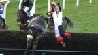Jockey Lewis Ferguson falls