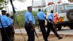 Kenyan police outside Garissa University (2 April)