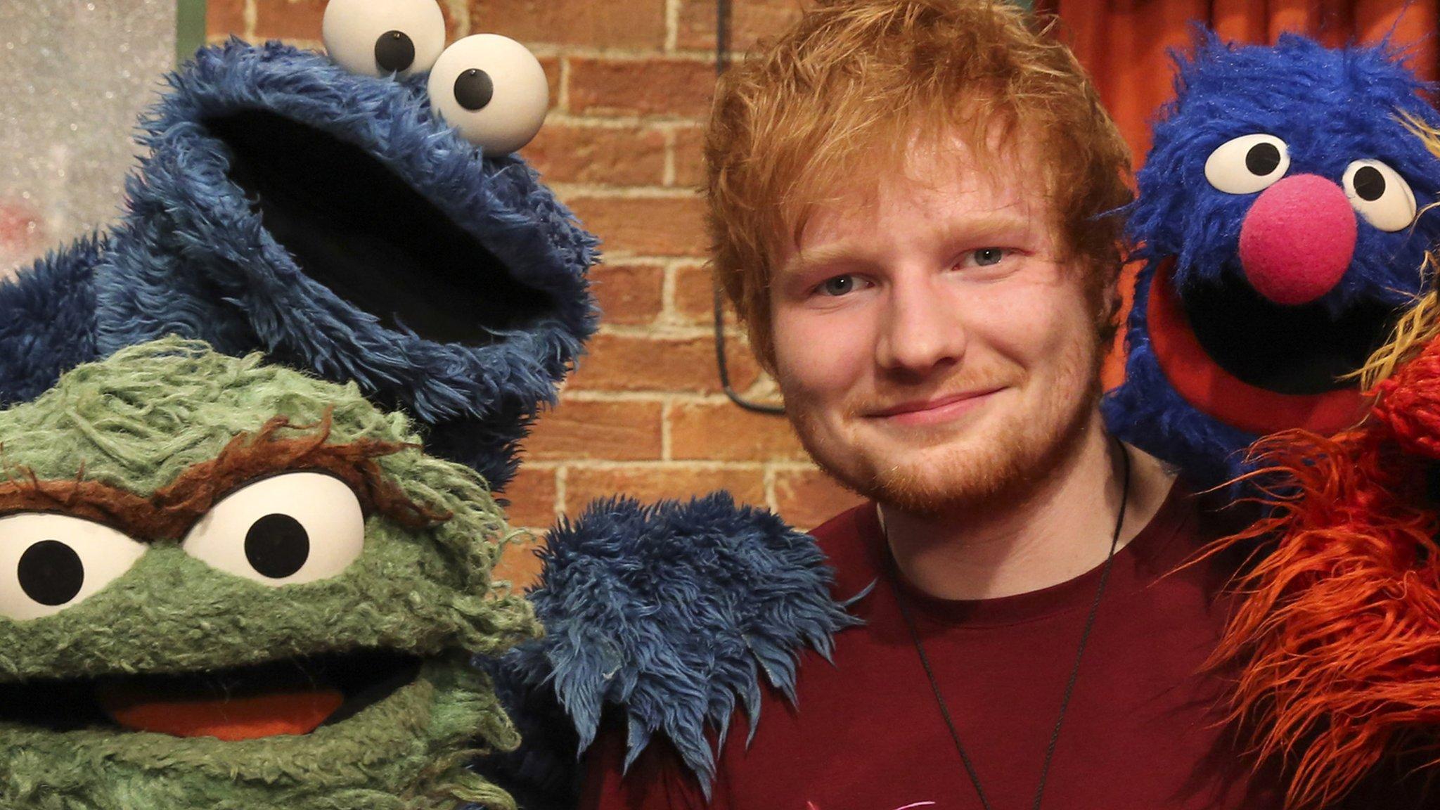 Ed sheeran sings with the sesame street gang bbc newsbeat