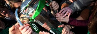 Six Nations trophy grasped by Ireland fans