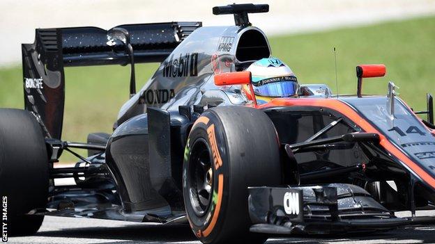 McLaren driver Fernando Alonso