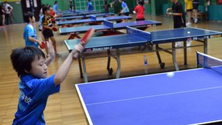 Table tennis and kids