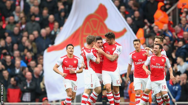 Arsenal are second in the premier league