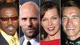 Action movie stars - Wesley Snipes, Jason Statham, Milla Jovovich, Arnold Schwarzenegger