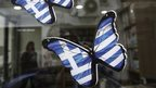 Butterflies with Greek flag