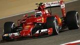 Ferrari's Kimi Raikkonen in Bahrain practice