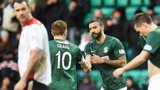 Hibs and Falkirk drew 3-3 at Easter Road in January