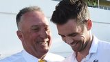 Sir Ian Botham and James Anderson