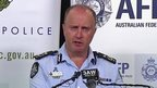 Australian Federal Police Acting Deputy Commissioner Neil Gaughan at a news conference on terror arrests