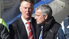 Van Gaal and Mourinho pre-match