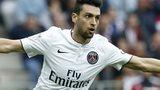 Paris Saint-Germain midfielder Javier Pastore celebrates after scoring against Nice