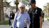 Lewis Hamilton & Bernie Ecclestone