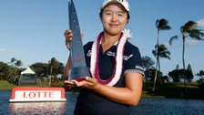 Kim Sei Young with the LPGA LOTTE Championship trophy