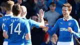Ryan Hardie (right) celebrates a goal for Rangers