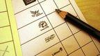 Pencil on ballot paper