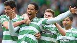 Celtic Virgil van Dijk celebrates scoring for Celtic