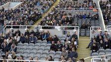 Empty seats at Newcastle