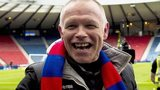 John Hughes celebrates Inverness Caledonian Thistle's victory