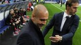 Pep Guardiola and Porto's coach Julen Lopetegui