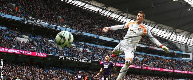 James Collins' own goal put Man City ahead against West Ham