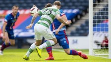 Leigh Griffiths' header appeared to hit the arm of Inverness defender Josh Meekings